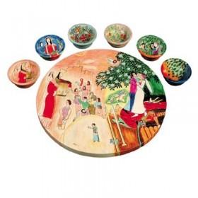 Seder Plate + Six Bowls - Figures