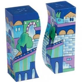 Salt & Pepper Shakers - Jerusalem Blue