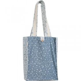 Book Bag - Thick  - Blue/White
