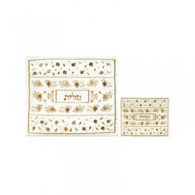 Tallit Bag - Machine Embroidery - Pomegranate Gold
