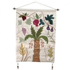 Wall Hanging - Seven Species - White