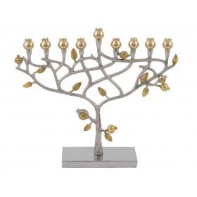 Hanukkah Menorah - Pomegranates + Hammer Work