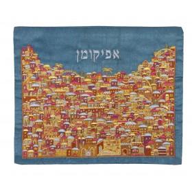 Afikoman Cover - Full Embroidery - Jerusalem Multicolor