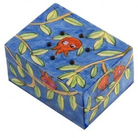 Spice Box - Painted - Pomegranates