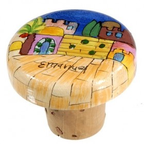 Wine Bottle Cork - Jerusalem