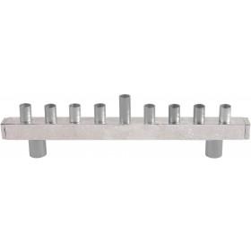 Hanukkah Menorah - Strip + Hammer Work - Aluminium