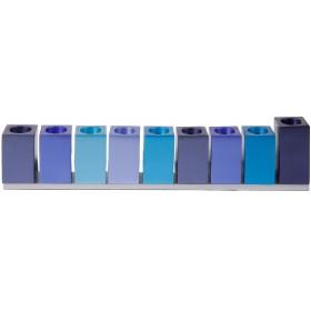 Hanukkah Menorah - Cubes - Blue