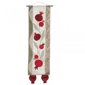 Long Wall Hanging - Pomegranates - Gold