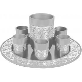 Kiddush Set - Silver Lace - Aluminium
