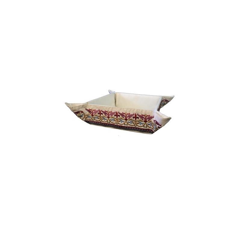 Folding Basket + Embroidery - Oriental Multicolor