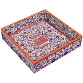 Printed Wooden Matzah Tray - Multicolor