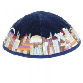 Kippah - Velvet + Embroidered - Multicolor
