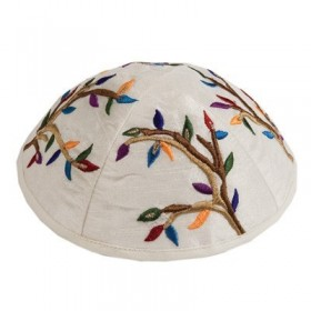 Kippah - Embroidered - Tree of Life  - Multicolor