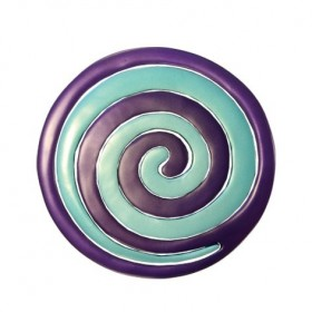 Aluminium Trivet - Painted -  Two Pieces - Spiral Purple + Green