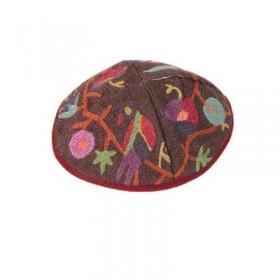 Kippah Hand Embroidered - Birds