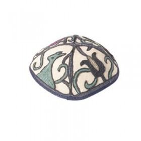 Kippah Hand Embroidered - Animals