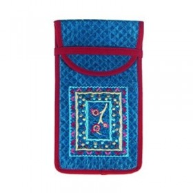 Glasses Holder - Embroidered - Blue