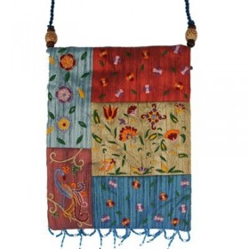 Bag - 5 Patches + Embroidery - Flowers - Multicolor