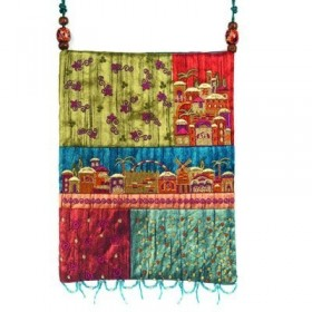 Bag - 5 Patches + Embroidery - Jerusalem - Multicolor