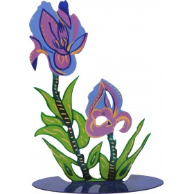 Flower Laser Cut - Hand Painted - Iris