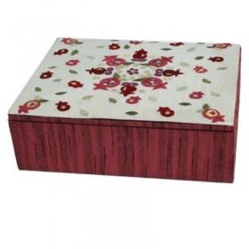 Embroidered  Box - Small -  Pomegranates