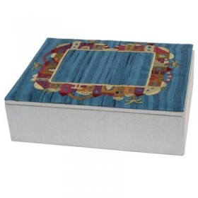 Embroidered  Box - Small -  Jerusalem