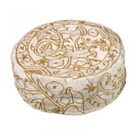 Hand Embroidered Hat - Gold