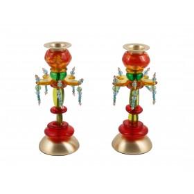 Candlesticks - Polyester - Medium Flower