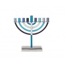 Small Classic Hanukkah Menorah - Blue