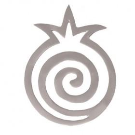 Aluminium Trivet - Aluminium - Pomegranates Spiral