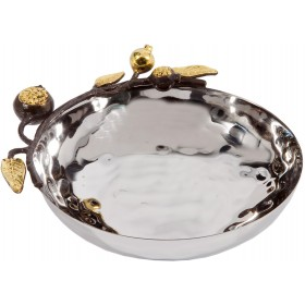 Oval Bowl - Stainless Steel - Pomegranates