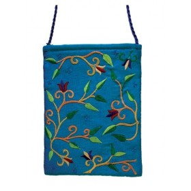 Passport Bag - Flowers - Blue