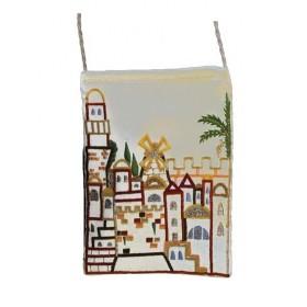 Passport Bag - Jerusalem - White