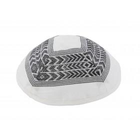 Kippah - Different Fabrics-black/white