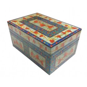 Medium Wooden Box - Pomegranates