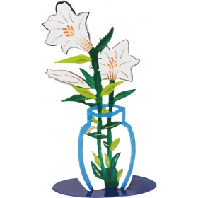Flower Laser Cut - Hand Painted - Lily