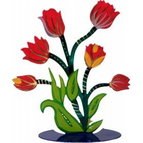 Flower Laser Cut - Hand Painted - Tulip