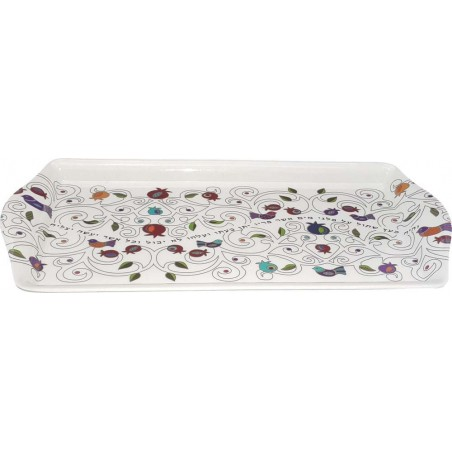 Challah Tray Wood Laser Dual Layers Large