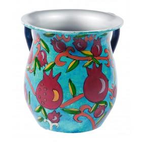 Netilat Yadayim Cup -  Aluminium - Pomegranates