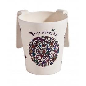 Netilat Yadayim Cup - Bamboo - Butterflies