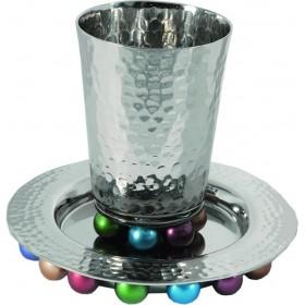 Kiddush Cup + Nickel Balls - Multicolor