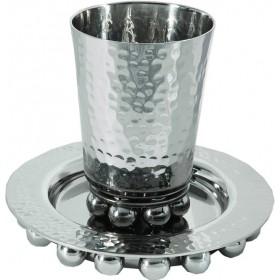 Kiddush Cup + Nickel Balls - Silver