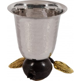 Reversible Kiddush Cup - Stainless Steel - Pomegranate