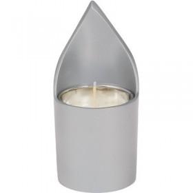 Memorial Candle Holder + Candle - Natural Aluminium