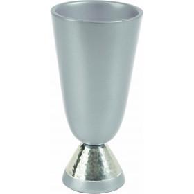 Kiddush Cup - Aluminium + Hammer Work -  Aluminium