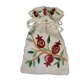 Embroidered Spice Bag - Pomegranates