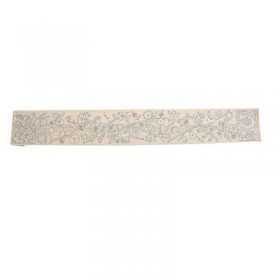 Hand Embroidered Atara - Birds Silver