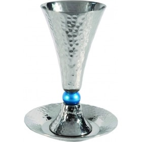 Cone Kiddush Cup + Turquoise Ball