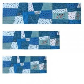 Runner - Applique ' + Broderie 40» ( 100 CM ) Bleu