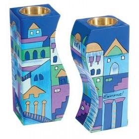 Fitted Candlesticks - Jerusalem Blue